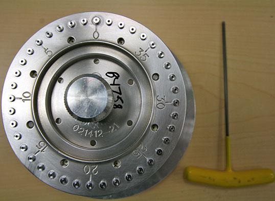 Beta AMS target wheel