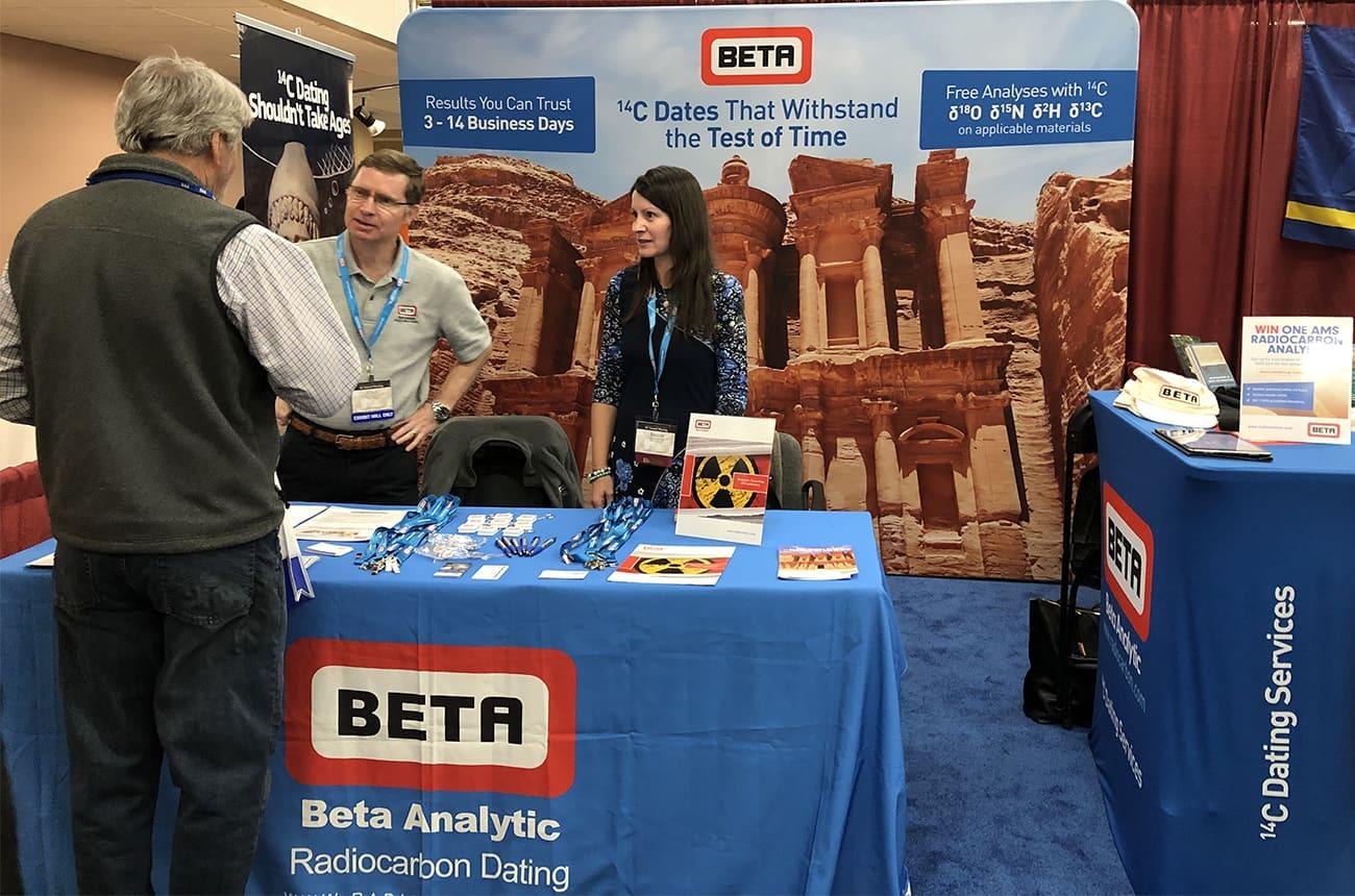 Beta Analytic Chris and Tamara at SAA 2019