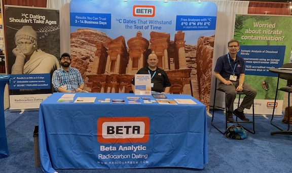 Beta Analytic Booth at GSA 2019