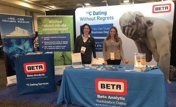 Beta Analytic booth AGU 2019
